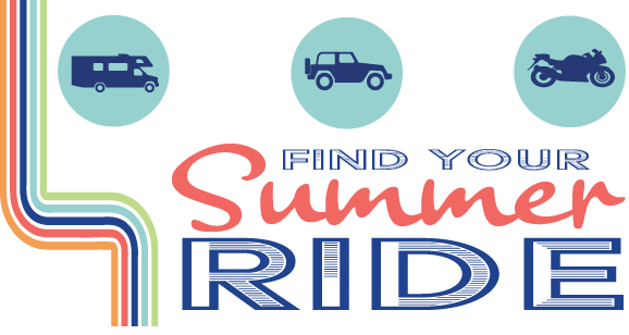 summer ride auto rv and motorcycle promo